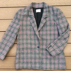 Pendleton 100% Wool Plaid Blazer Vintage Size 14